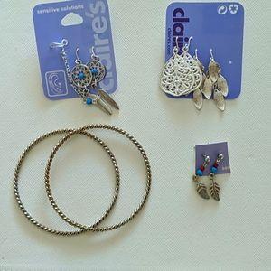 Jewelry (Earrings and Set of Bracelets)